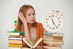 Student  preparing for exams Royalty Free Stock Image