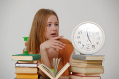 Student  preparing for exams Stock Photo