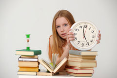 Student  preparing for exams Stock Image