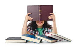 Student preparing for  exams Royalty Free Stock Images