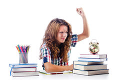Student preparing for  exams Royalty Free Stock Photography