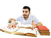 Student preparing for the exams Stock Photo