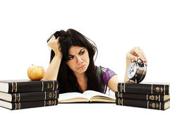 Student preparing for the exams Royalty Free Stock Photography