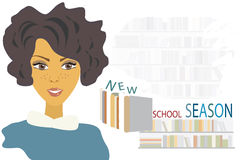 Student Preparing voor Nieuw Schooljaar. Leerling Stock Fotografie