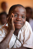 Student in primary school, Tanzania Stock Image