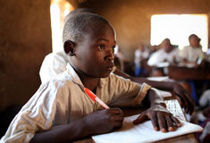 Student in primary school, Tanzania Stock Photography