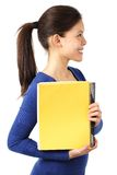 Student profile copy space Royalty Free Stock Photo