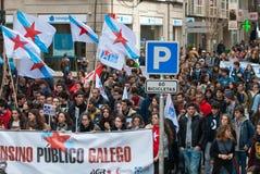 Student protest stock photo