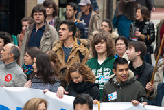 Student protest royalty free stock image