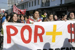 Student protest in Chile Royalty Free Stock Photography