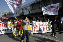 Student protest in Chile Stock Image