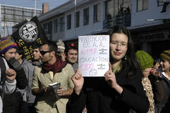 Student protest in Chile Royalty Free Stock Photo