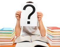 Student with Question Mark Stock Photos