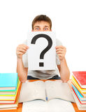Student with Question Mark Royalty Free Stock Images