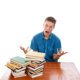 Student Rage Royalty Free Stock Photo