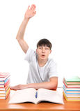 Student raise his Hand Royalty Free Stock Images