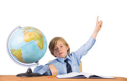 Student raising hand for question Royalty Free Stock Photos