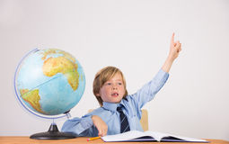 Student raising hand for question Royalty Free Stock Images