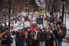 Student Rally - RPI - Troja, New York stockbilder