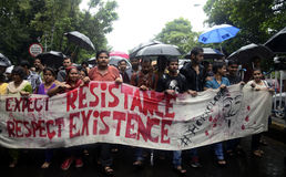 Student Rally voor rechtvaardigheid Stock Afbeeldingen
