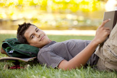 Student reading Stock Image
