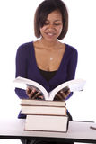 Student Reading Book Royalty Free Stock Photo