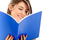 Student reading a book Stock Image