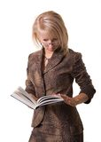 Student is reading book Stock Photography