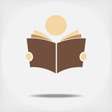 Student reading a book. Fully editable vector Stock Image