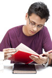 Student Reading Book Stock Photography