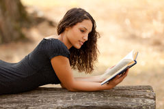 Student reading in park Royalty Free Stock Photos