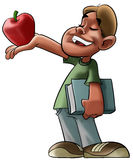 Student and red apple Stock Images