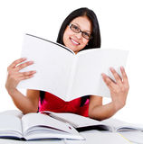 Student reding a book Stock Image