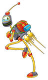 Student Robot. Funny cartoon and vector illustration Stock Image