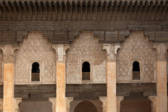 Student rooms in the Medersa ben Youssef Royalty Free Stock Images