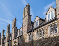 Student rooms. At Trinity college, university of Cambridge, England royalty free stock image