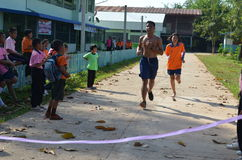 Student Running,School Sport. Sport in School at north province of thailand Royalty Free Stock Photos