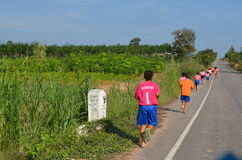 Student Running,School Sport. Sport in School at north province of thailand Royalty Free Stock Photo