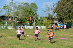 Student Running ,School Sport. Sport in School at north province of thailand Royalty Free Stock Photos