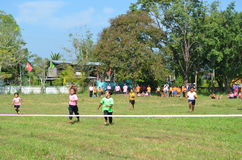Student Running ,School Sport. Sport in School at north province of thailand Stock Images