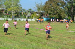 Student Running ,School Sport. Sport in School at north province of thailand Royalty Free Stock Photo