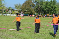 Student Running ,School Sport. Sport in School at north province of thailand Stock Photo