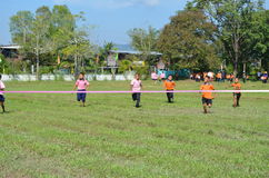 Student Running ,School Sport. Sport in School at north province of thailand Stock Photos