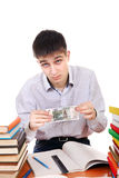 Student with Russian Currency Royalty Free Stock Photography