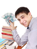 Student with Russian Currency Stock Photography