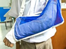 Student's arm is broken Royalty Free Stock Images