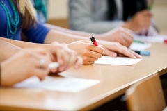 Student's hand Royalty Free Stock Photo