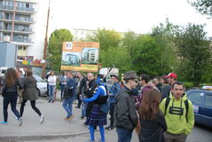 Student s holiday. This is the Korowod 2014 - student s holiday. May 6, 2014. Lublin, Poland Stock Photo