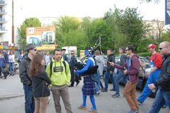 Student s holiday. This is the Korowod 2014 - student s holiday. May 6, 2014. Lublin, Poland Royalty Free Stock Photography