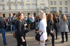 Student s holiday. This is the Korowod 2014 - student s holiday. May 6, 2014. Lublin, Poland Royalty Free Stock Photos